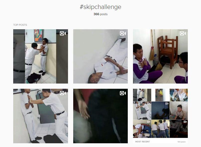 tren anak muda skip challenge