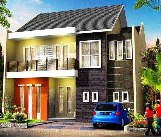 rumah minimalis full color