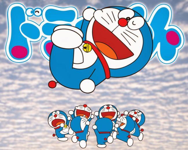 Gambar Doraemon gembira