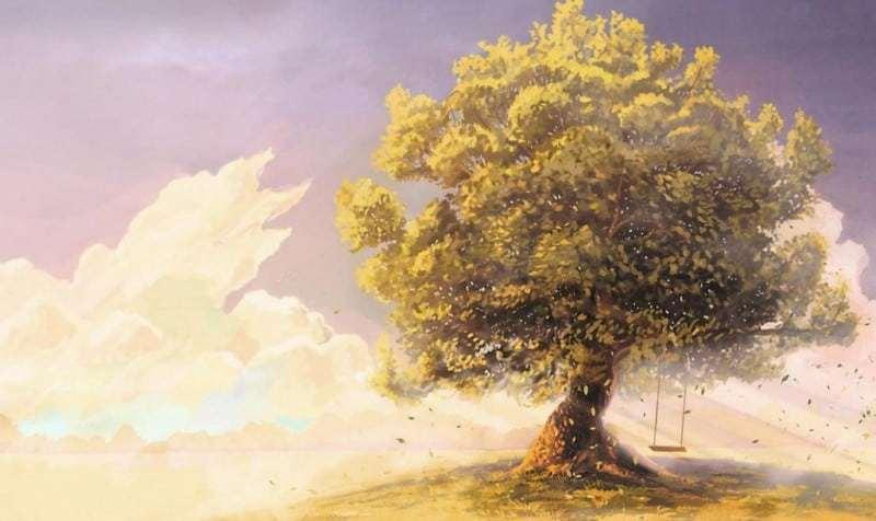 Lukisan Pemandangan Pohon