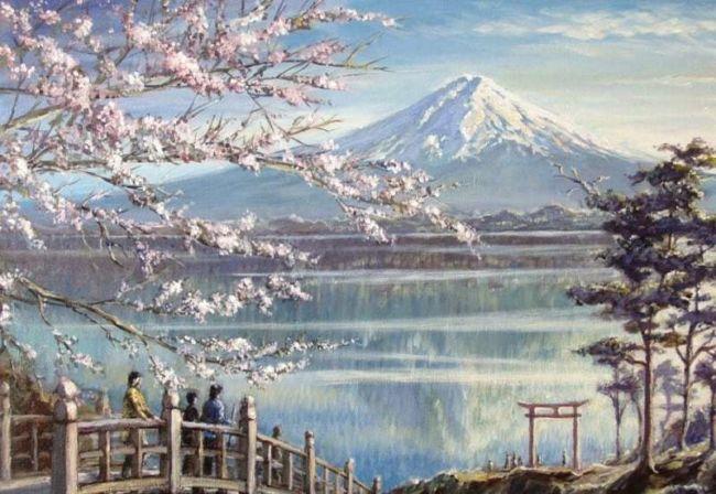 Lukisan pemandangan Gunung Fuji